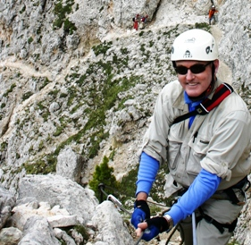 Christopher Buckley on via ferrata