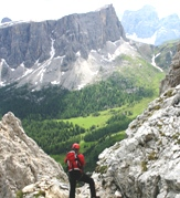 View from top of Ra Gusela via ferrata