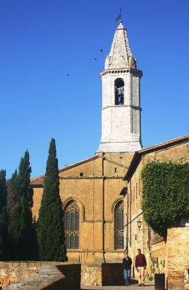 Church steeple Pienza Tuscany