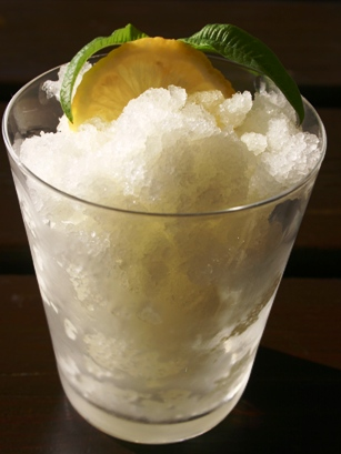 glass of lemon granita