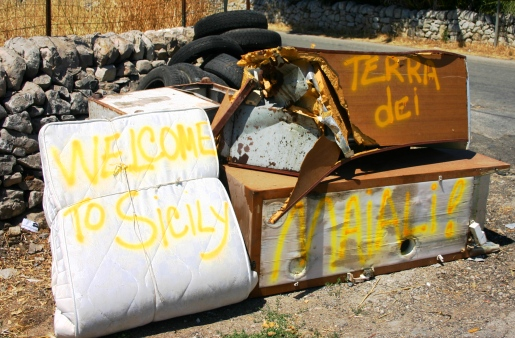 garbage and litter in Sicily
