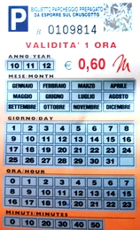 park card in Italy