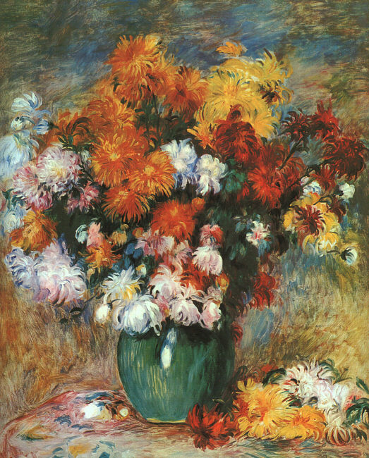 Renoir chrysanthemums