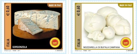 Italian cheese stamps