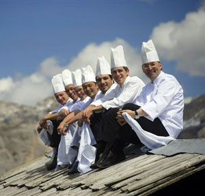 chefs in the Dolomites