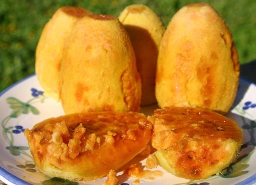prickly pears, peeled