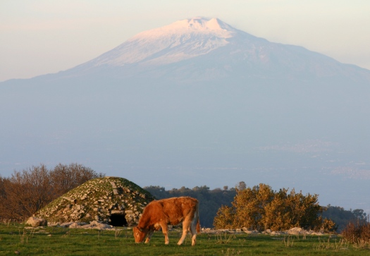 Mt Etna and neviera