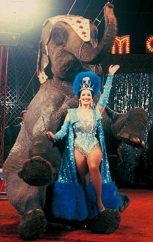 Circus queen & elephant