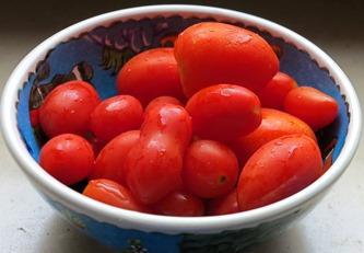 Small Italian tomatoes