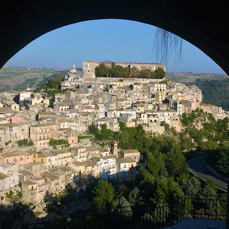View of Ragusa Ibla town in Sicily, Italy
