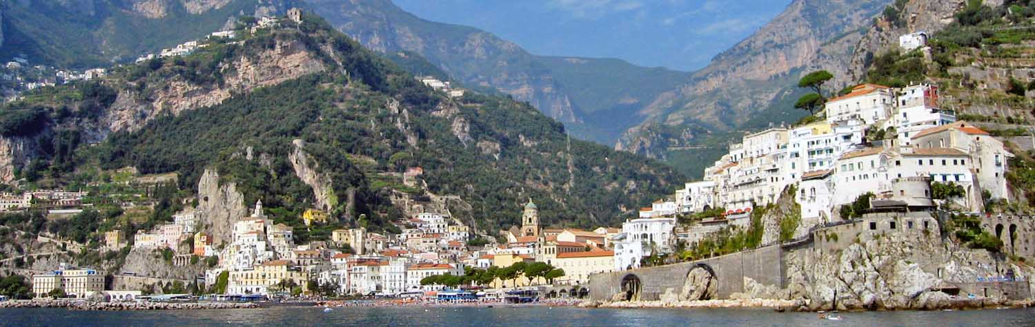 View of Amalfi Coast in Italy tour