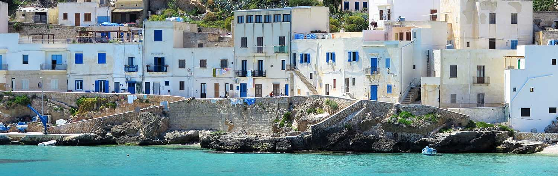 The port in Levanzo, Egadi island in Sicily