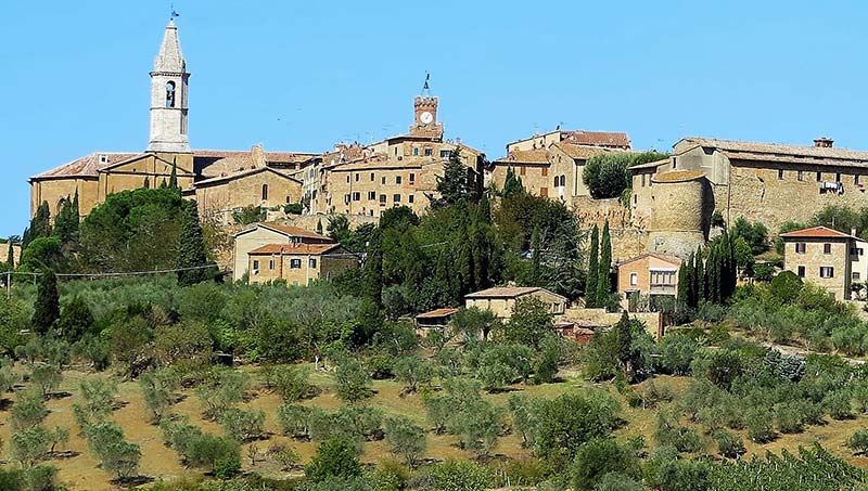 historic town in Italy with countryside