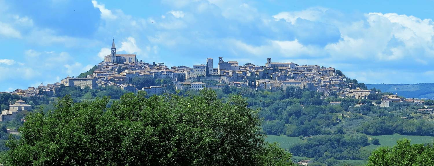 View of Todi in Umbria, Italy