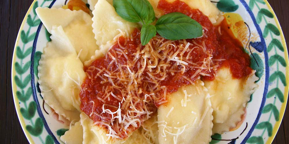 Homemade ravioli on a culinary tour in Sicily