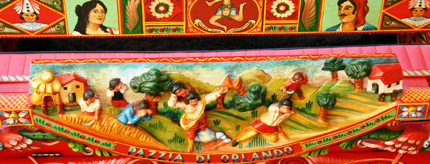 Painted Sicilian cart detail