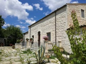 Restored stone farm house in Sicily