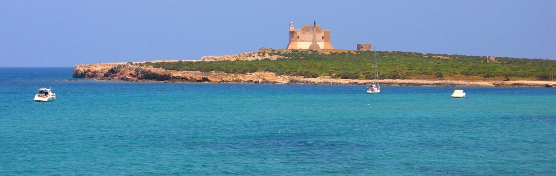 Turquoise sea Isola Capopassero Sicily