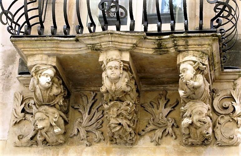 Balcony of Palazzo Zacco in Ragusa
