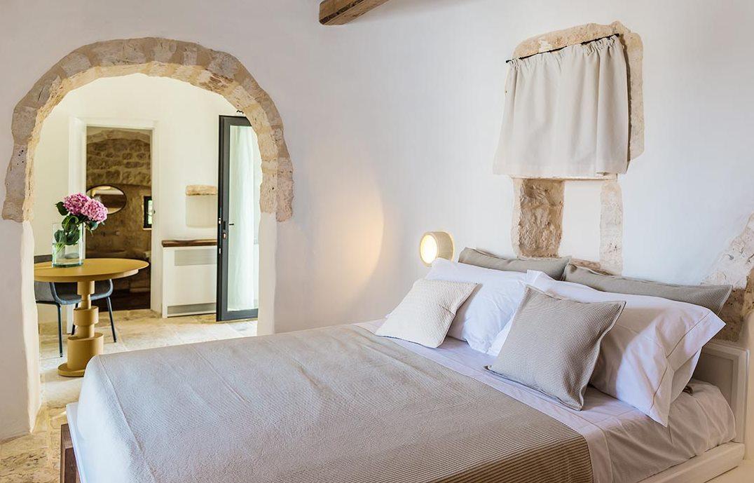 Bedroom in a trullo in Puglia