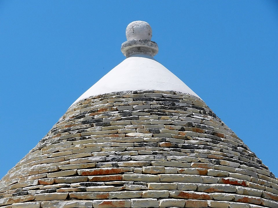 Cone shaped roof of a trullo