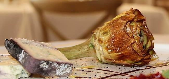 Artichoke in restaurant dish